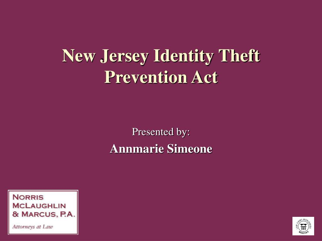 new jersey identity theft prevention act l.