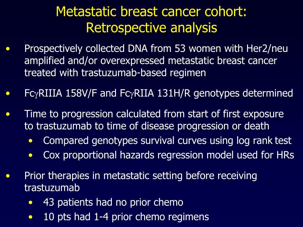 Metastatic breast cancer cohort: