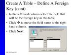 create a table define a foreign key cont44