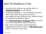 intro to databases cont