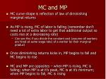 mc and mp