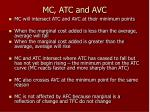 mc atc and avc