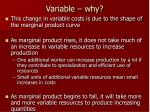 variable why