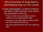 why economies of scale lead to downsloping long run atc curves