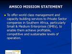 amsco mission statement