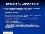details on amsco role