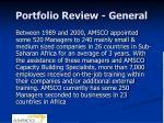 portfolio review general