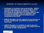 summary of amsco benefits cont d