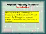 amplifier frequency response introduction