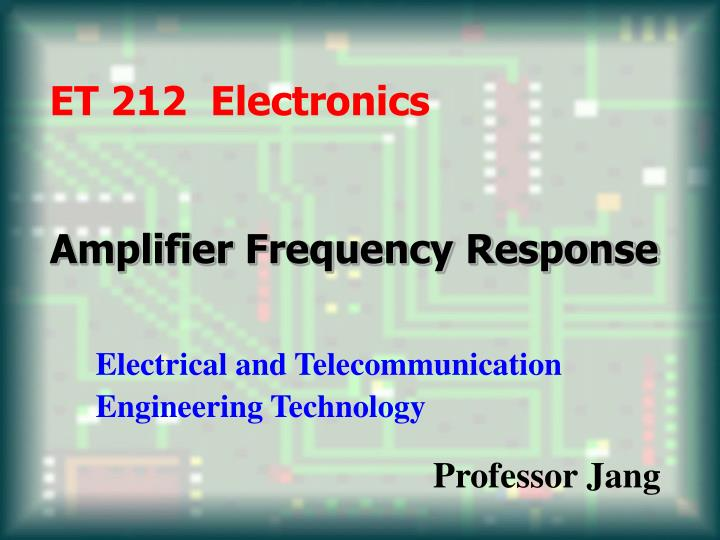 amplifier frequency response n.