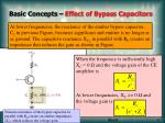basic concepts effect of bypass capacitors