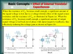 basic concepts effect of internal transistor capacitances9