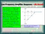 low frequency amplifier response db decade