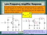 low frequency amplifier response