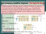 low frequency amplifier response the input rc circuit29