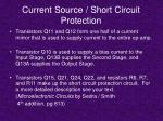 current source short circuit protection