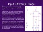 input differential stage