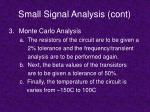 small signal analysis cont19
