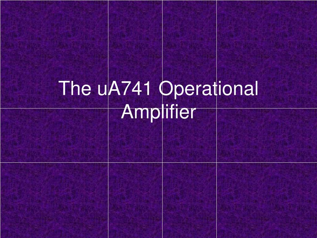 the ua741 operational amplifier l.