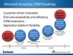 microsoft dynamics crm roadmap