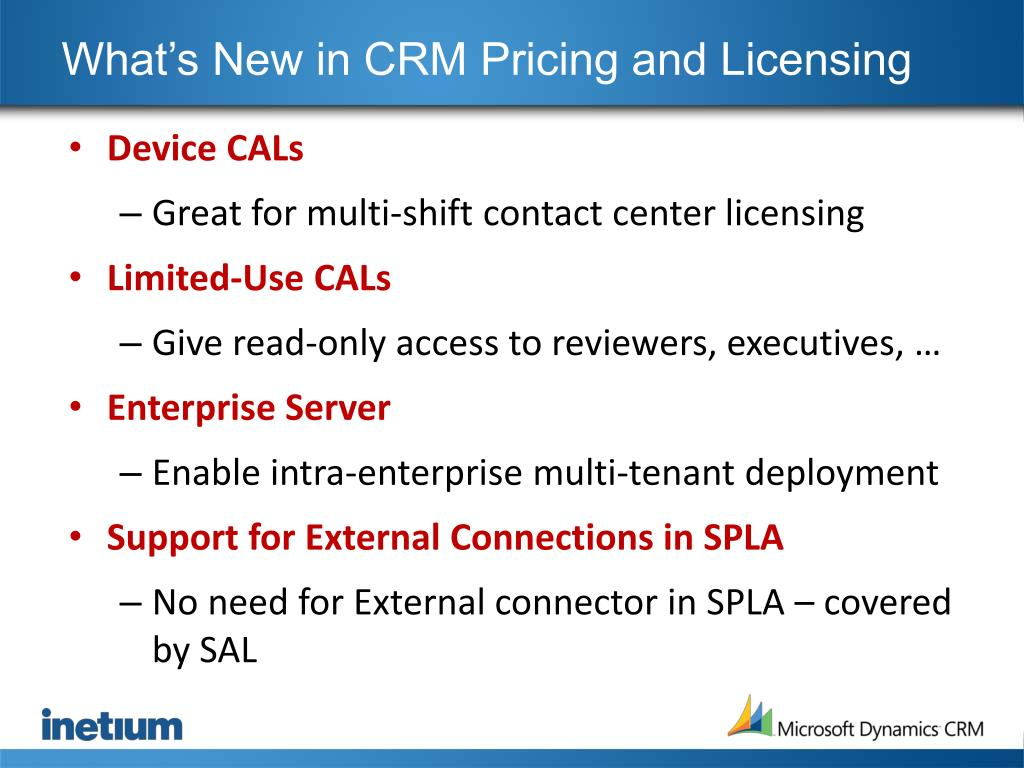 What's New in CRM Pricing and Licensing