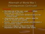 aftermath of world war i consequences continued