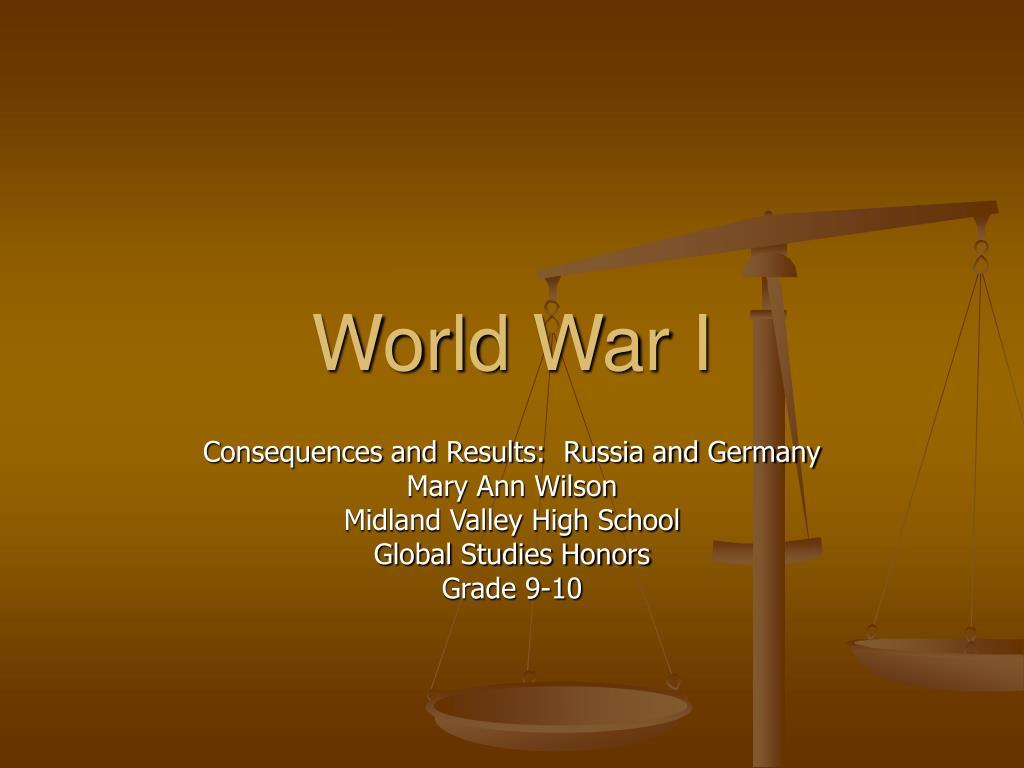 world war i l.