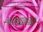 l amour est capable de tout l amour est la seule force dans l univers qui puisse dire28