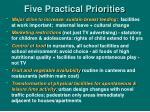 five practical priorities