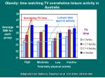 obesity time watching tv overwhelms leisure activity in australia