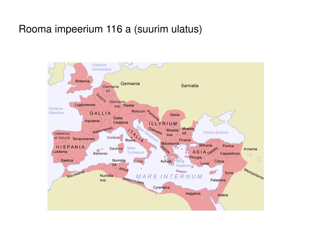rooma impeerium 116 a suurim ulatus l.
