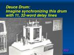 deuce drum imagine synchronizing this drum with 11 32 word delay lines