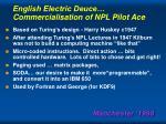 english electric deuce commercialisation of npl pilot ace