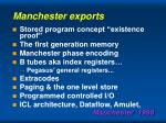 manchester exports