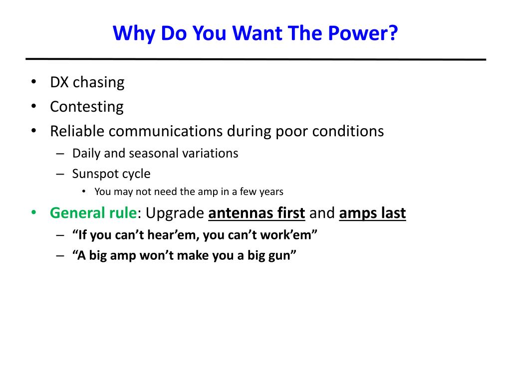 Why Do You Want The Power?