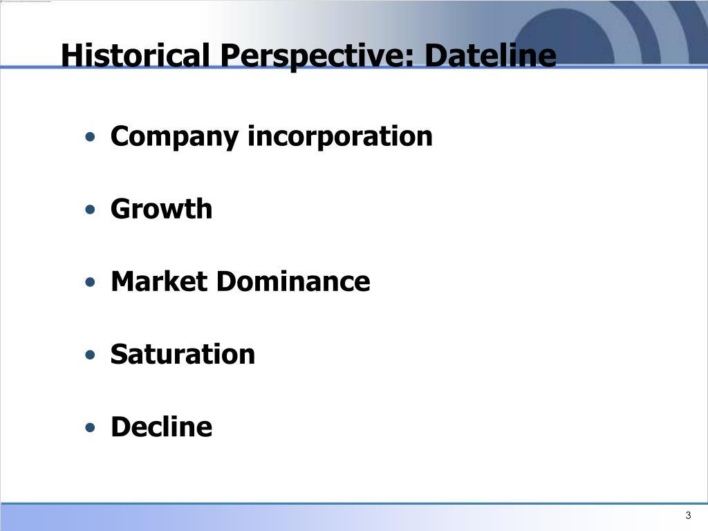Historical Perspective: Dateline
