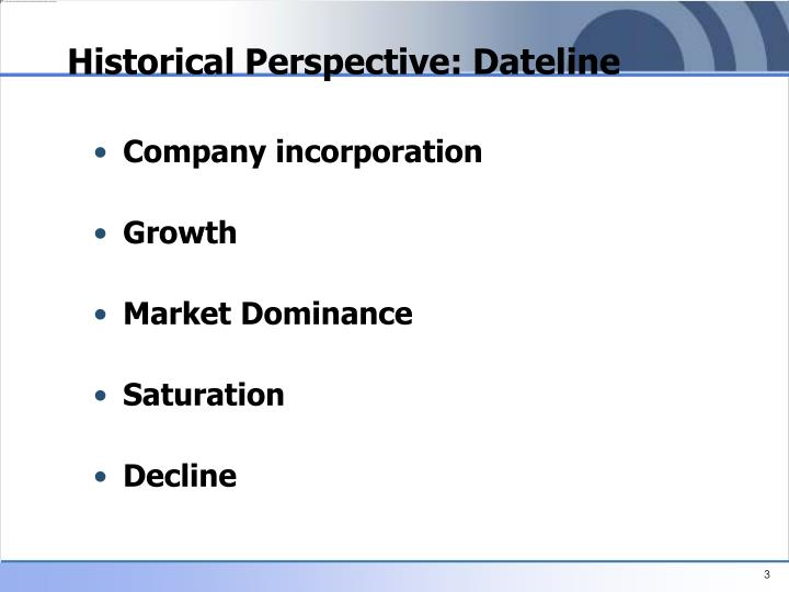 Historical perspective dateline