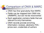 comparison of onix marc
