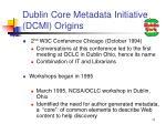 dublin core metadata initiative dcmi origins