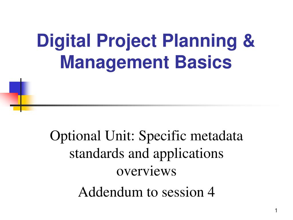 optional unit specific metadata standards and applications overviews addendum to session 4 l.