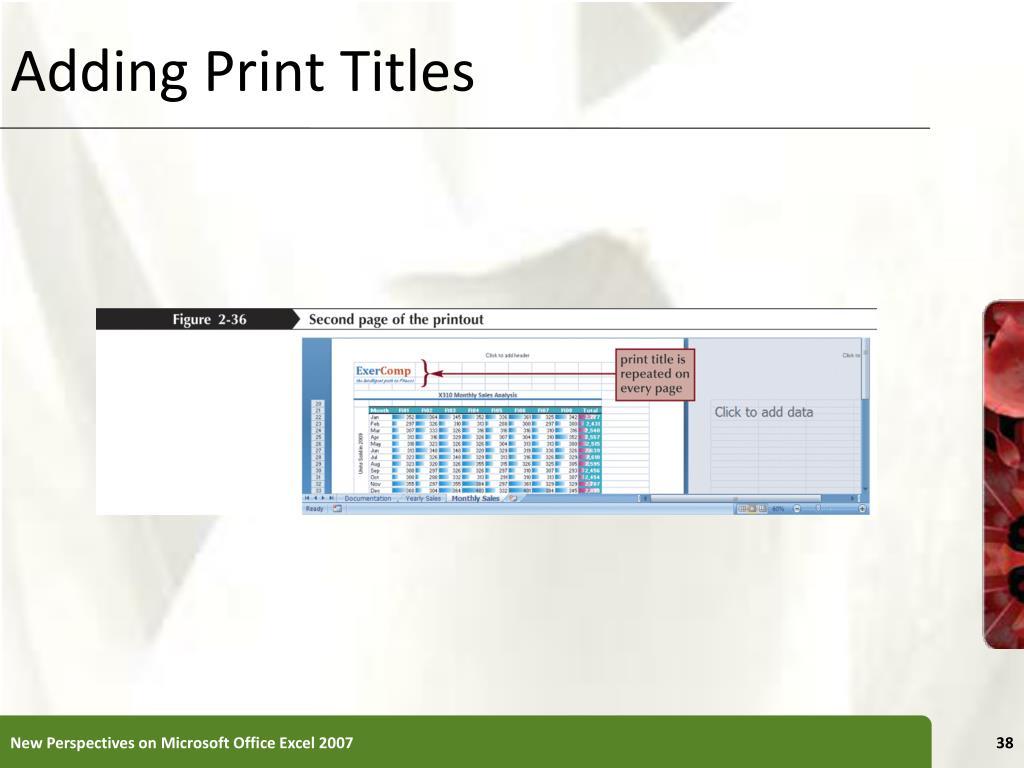Adding Print Titles