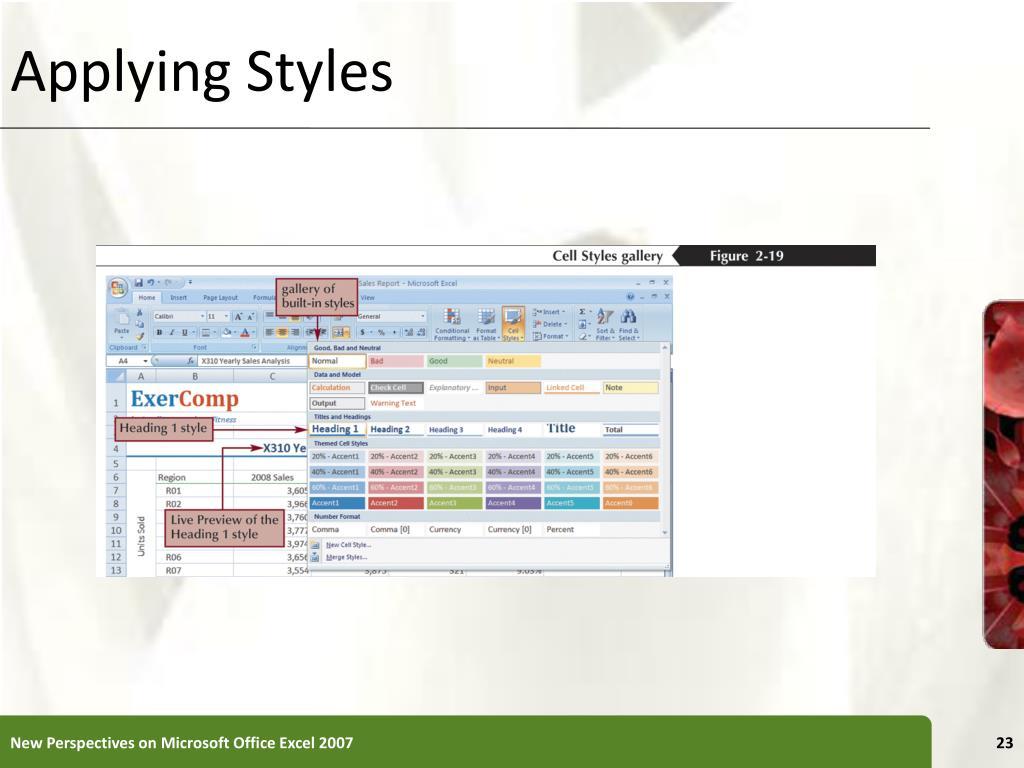Applying Styles