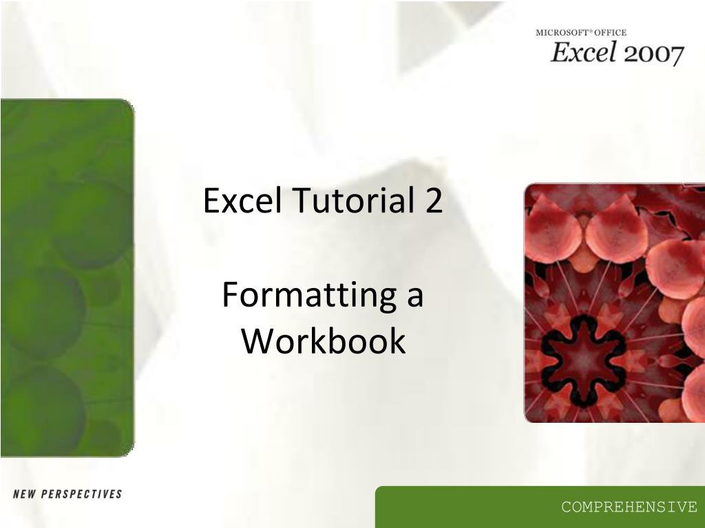 excel tutorial 2 formatting a workbook l.