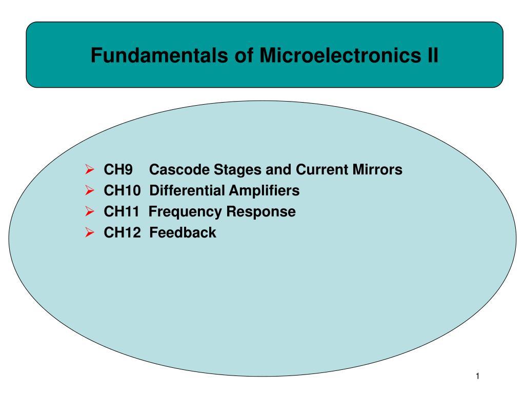 fundamentals of microelectronics ii l.