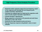high frequency circuit analysis procedure