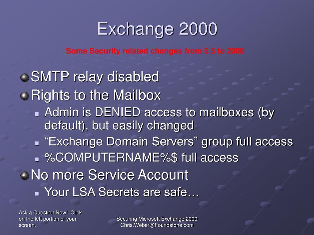 Exchange 2000