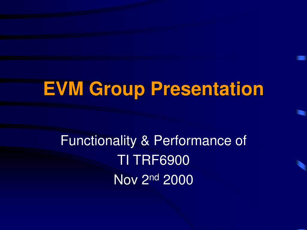 evm group presentation l.