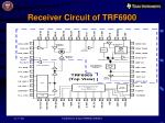 receiver circuit of trf6900
