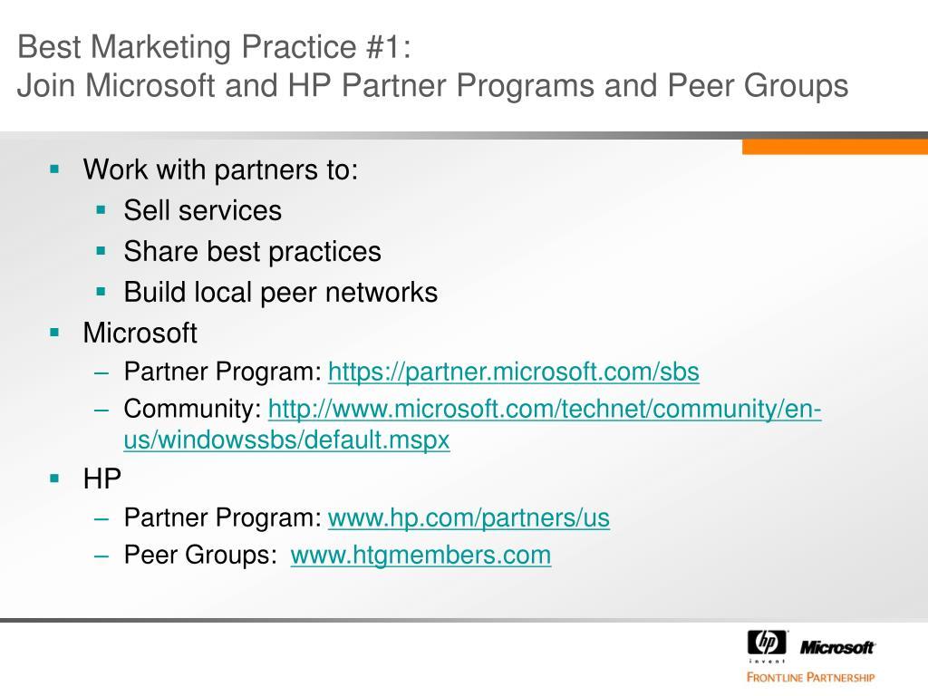 Best Marketing Practice #1:
