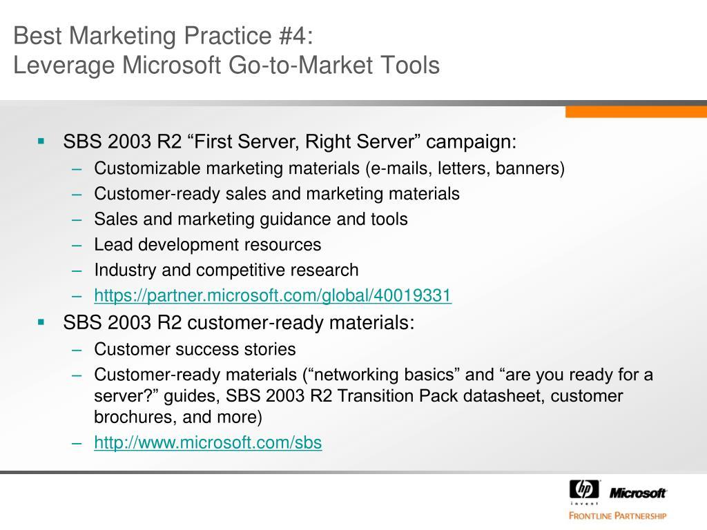 Best Marketing Practice #4: